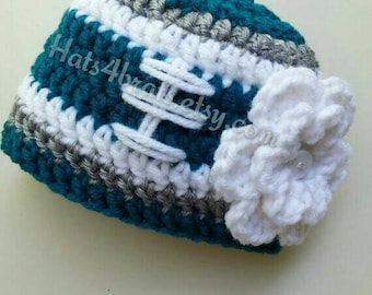 Baby Girl Philadelphia Eagles Hat, Newborn Eagles Hat, Infant Crochet Eagles Hat, Baby Philadelphia Eagles Photo Prop, Baby Photo Prop, Hat