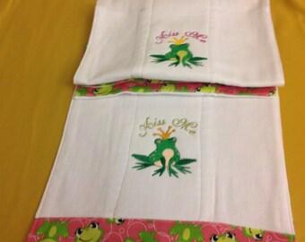 Diaper Burp Cloth-Frog