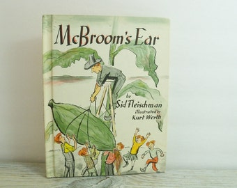 McBroom's Ear Vintage Children's Book by Sid Fleischman and Illustrated by Kurt Werth Weekly Reader Books 1969