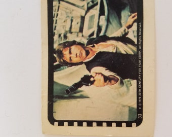 Vintage Star Wars Trading Card Sticker Han Solo 1978 Harrison Ford