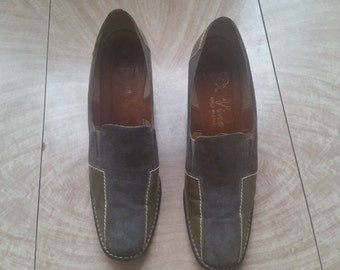 """Vintage Suede and Leather  """"De Vino"""" Shoes Made in Spain"""