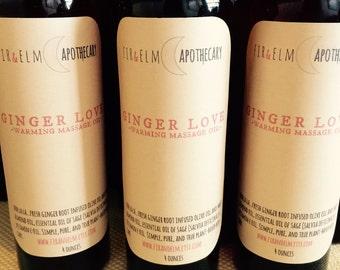 Warming Ginger Massage Oil