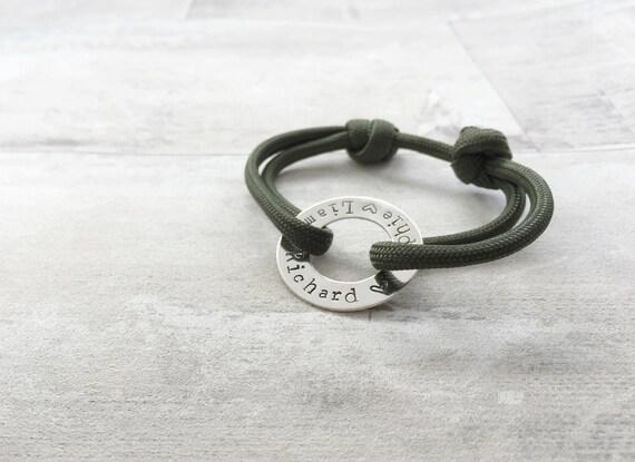 mens adjustable paracord family bracelet by thelittlehomebird