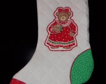 Retro Style Christmas Stocking