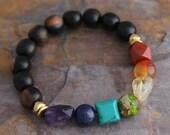7 Chakra Bracelet Yoga Meditation Chakra Jewelry Stacking Gemstone Bracelet Beaded Stackable Boho Chic Bohemian Chakra Energy Bracelet Gifts