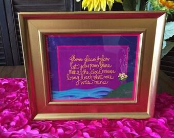 Flower Gleam & Glow 8X10 Digital Print • Disney Princess Rapunzel • Tangled Birthday Party