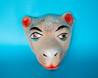 Mexican traditional mask from paper mache camel