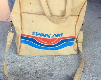 Vintage Pan Am Travel Carry On Bag
