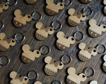 Mickey & Minnie Keychains