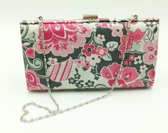 Clutch, Bridesmaid Clutch, Clamshell Clutch, Evening Clutch, Cocktail Clutch, Floral Clutch - Made in Maui