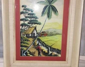 Vintage Framed Asian Print
