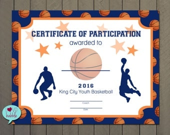 basketball awards certificates