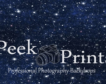 6ft.x4ft.  In Space- Planet- Moon- Star Background- Vinyl Photography Backdrop
