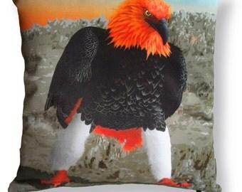 Bird cushion cover cotton FIRE EAGLE