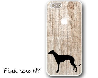 iPhone 6/ 6S/ 6plus/ 6S plus, iPhone 5/ 5S/ 5C, iPhone 4/ 4S, iPhone SE - Whippet Silhouette