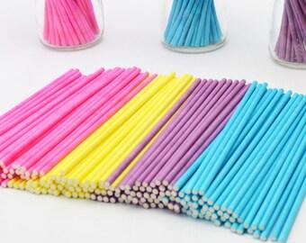 100pcs Colorful Lollipop Stick 15CM Papen Cake Pop Sticks for Lollypop Lollipop Candy Chocolate Sugar Cudgel Pole Handle Rod