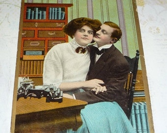 on sale How Would You Like My Job?  Cute Antique Love Postcard