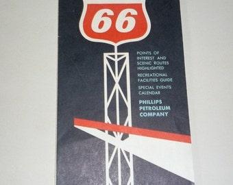 Phillips 66 Colorado Map Vintage 1963