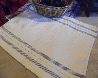 Handwoven Cotton Mop Cord Rug