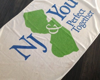 New Jersey and You Perfect Together Towel
