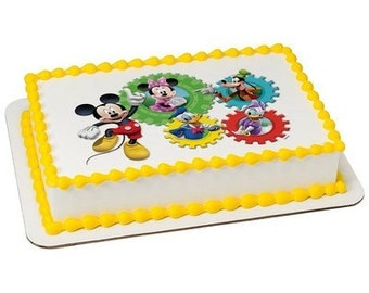 Mickey Mouse Clubhouse Edible Cake or Cupcake Toppers - Choose Your Size