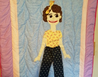 Paper doll Quilt made to order.. This quilt has been sold this is an example of what you will get