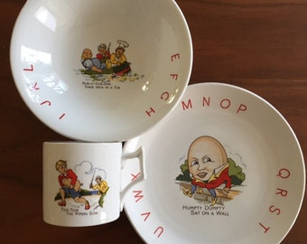 Old Foley Nursery Rhyme Children's Dishes