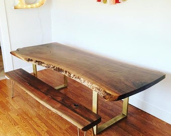 Charming Custom Live Edge Dining Table
