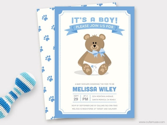 Boy teddy bear baby shower invitation printable baby shower invite il570xn filmwisefo Choice Image