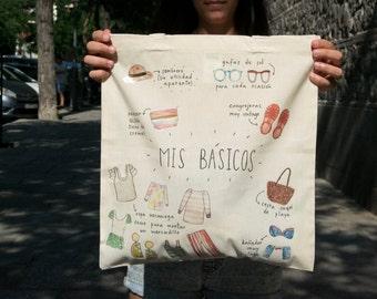 Cotton Bag with original design/tote bag/shopping bag/ Canvas bag