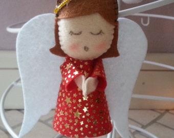 Felt Christmas Ornament * Angel * Handmade Decoration Doll