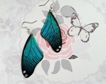 Magical Black & Turquoise Wing Earrings