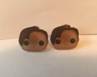 Handmade Plastic Fandom Earrings - Dr. Who - 11th Doctor