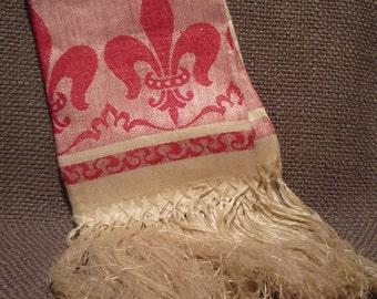 Antique French Fleur de Lis Kitchen Towel