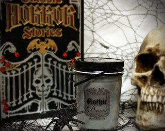 """Black Gothic """"Gothic Dream"""" vanilla musk scented candle by LeahMouse"""