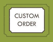 Custom order for Janel - 25 custom candles (small size), red book topper and custom labels