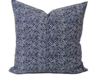 Blue pillow cover, 18x18, Blue throw pillow, Decorative pillow, Sofa cushion, Couch cushion, Accent pillow, Blue white pillow, Cushion cover