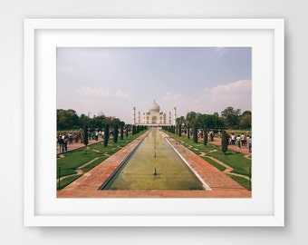 Photography Prints, Taj Mahal, Printable Art, Wall Decor, Wall Art, Photography, India Photography, Fine Art, Seven Wonders,Travel