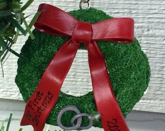Newlywed Wreath Ornament