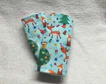 Forest Friends Car Seat Belt Covers ---reversible