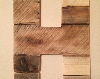 Reclaimed Wood Alphabet Letters