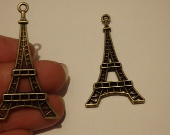 10 eiffel tower charms pendants bronze antique jewellery making wholesale UK