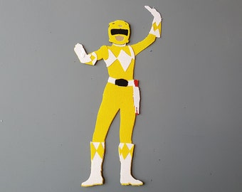 Yellow Power Ranger: sticker or magnet