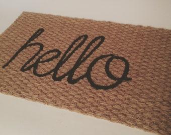 THIN Hello Doormat (indoor or outdoor use)