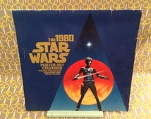 Star Wars Poster Art Calendar Unmarked Vintage 1980 George Lucas Darth Vader Luke Skywalker Storm Troopers Boba Fett