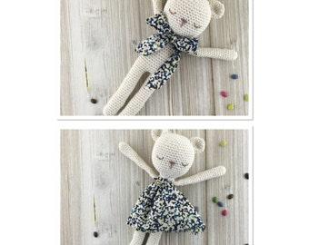 Baby TEDDY, made to order, crochet teddy, crochet toy, teddy, child gift, newborn birth gift, teddy crochet cotton