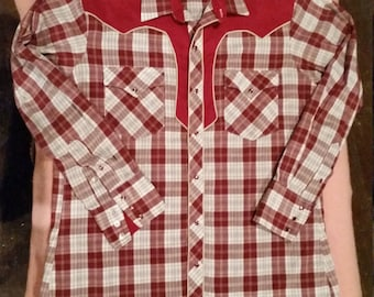 Vintage Kenny Rogers Western Collection by Karman Mens Western Shirt