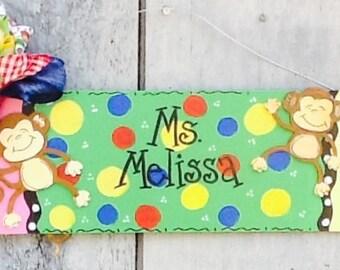 Teacher door sign, teacher door hanger, pencil door hanger, pencil door sign, classroom door sign, classroom door hanger