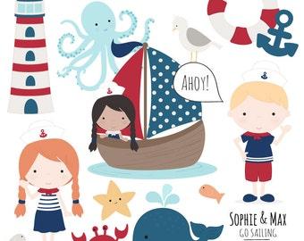 Sailing clipart | Etsy