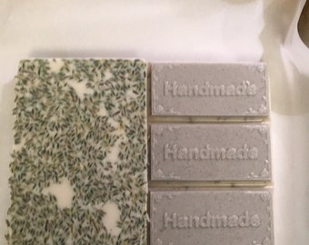Shea butter soap with lavender buds, lavender EO and pumice